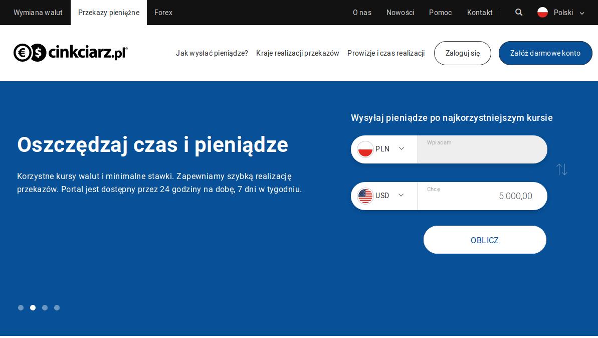 Cinkciarz.pl - przekazy pieniężne